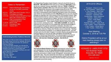 knoxville pa vfw auxiliary home facebook