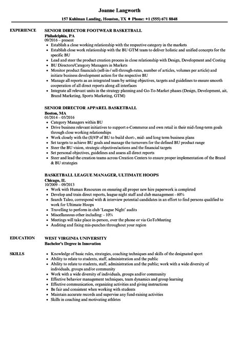 Basketball Resume by Basketball Resume Sles Velvet