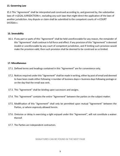 Ne0160 Affiliate Agreement Template English Namozaj Affiliate Program Agreement Template