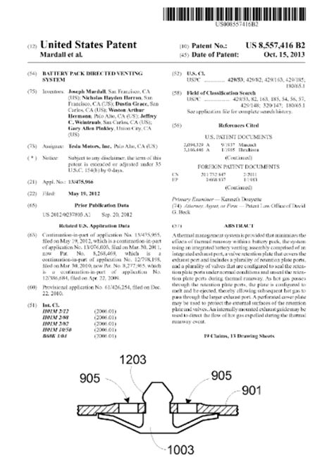 Tesla Car Patents Notes From A Engineer All Tesla S Electric Car
