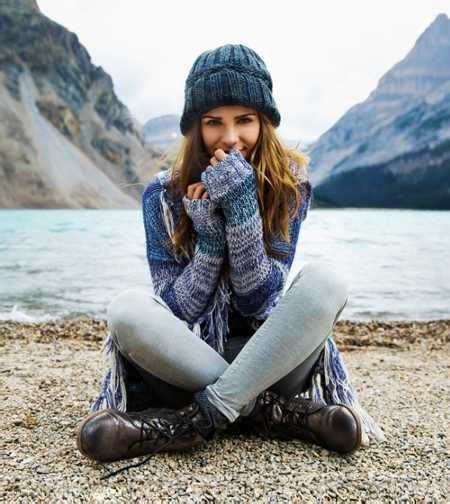 Sweater Hiking Time hooded blanket sweater beanie and hiking boots the