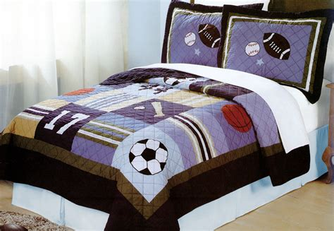 sports theme bedding sports bedding all state twin or full quilt sets with shams for boys