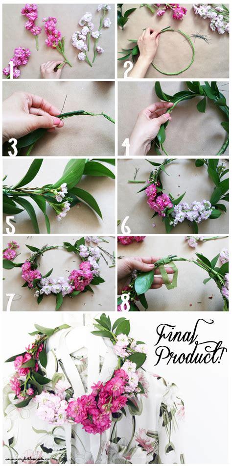 fresh floral heart diy tutorial diy spring floral crown my little secrets