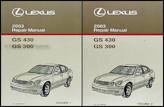 old car owners manuals 2003 lexus gs on board diagnostic system 2003 lexus gs 300 gs 430 wiring diagram manual original
