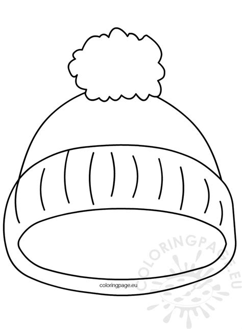 coloring page of winter hat kindergarten printable hat template coloring page