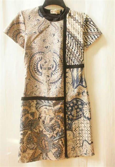 Kain Batik Sogan Semitulis 4 reshaped puzzled dress sogan klambi batik kebaya batik dress and batik fashion