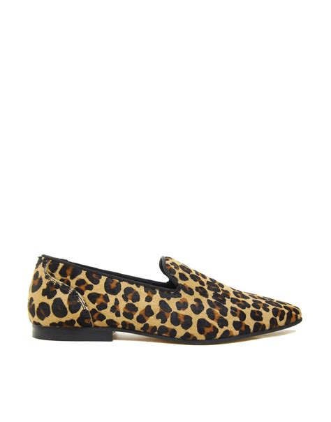 leopard loafers asos asos loafers with leopard print at asos