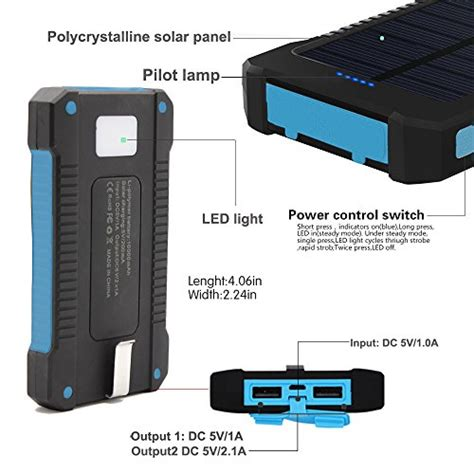 solar powered l and charger solar charger battery matone portable 10000mah solar