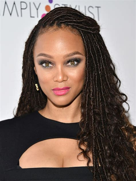Bold Color Combinations by Tyra Banks Gets In On Faux Locs Trend The Style News