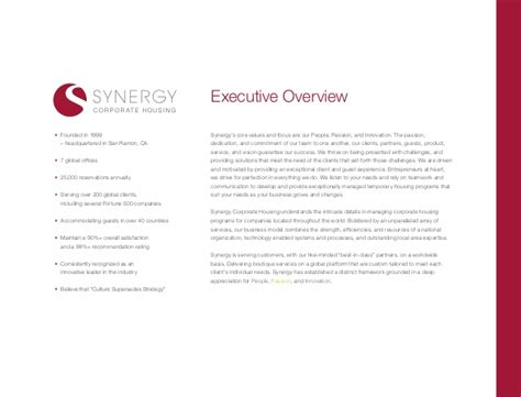 Synergy Corporate Housing by Synergy Corporate Housing General Overview Of Services