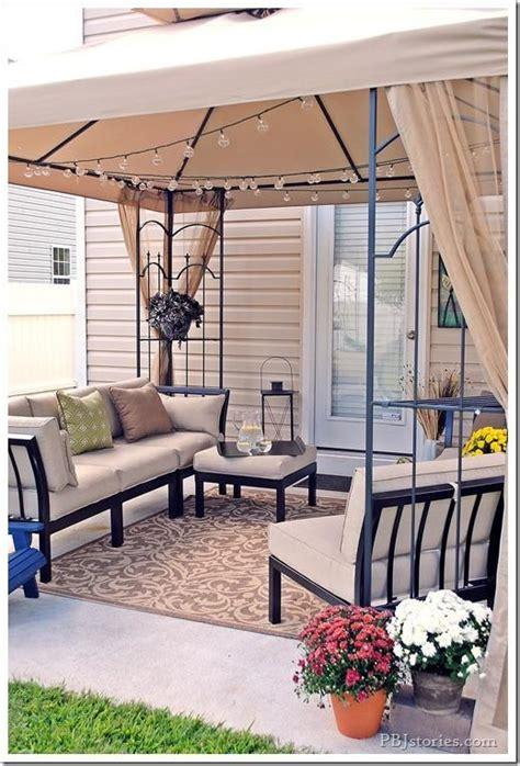 pbjstories  fall inspired backyard patio makeover