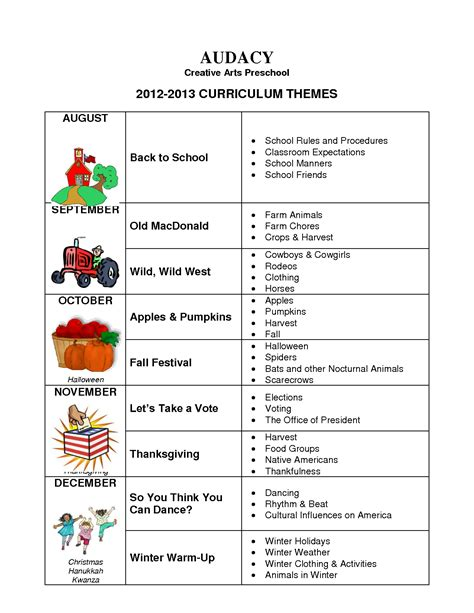 kindergarten themes for august preschool monthly theme ideas google search calendar