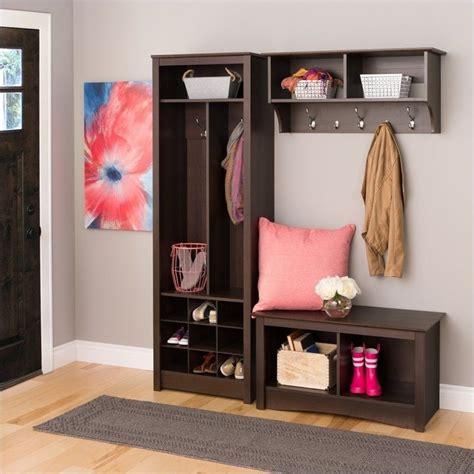 Entryway Furniture For Shoes Entryway Organizer With Shoe Storage In Espresso Esoh 0010 1