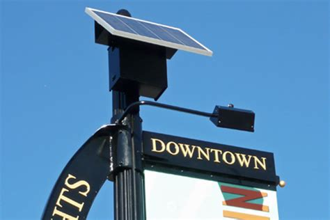 Solar Lighting For Signs Solar Banner Sign Lights For City Of Arlington Heights
