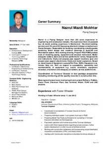 Resume Nazrul Mazdi Mokhtar Piping Designer