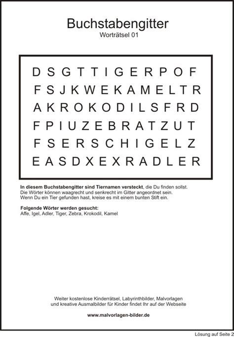 Leichtes Motorrad 5 Buchstaben by Buchstabengitter Zum Thema Tiere Zum Ausdrucken