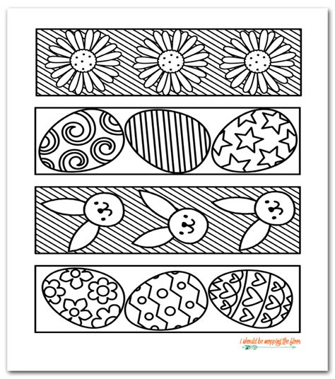 printable easter bookmarks to colour i should be mopping the floor free printable easter