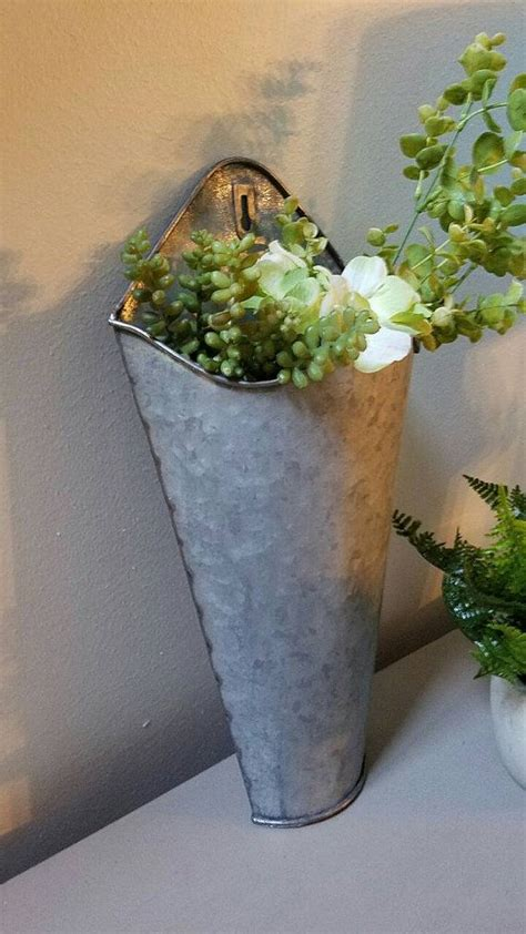 Wall Mounted Flower Vases 1000 Ideas About Wall Pockets On Pinterest Vase