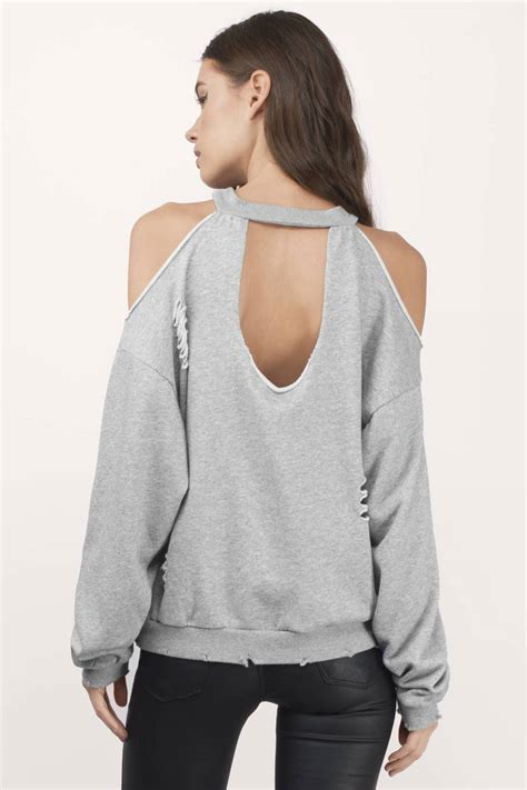 honey punch lanni cold shoulder sweatshirt tobi