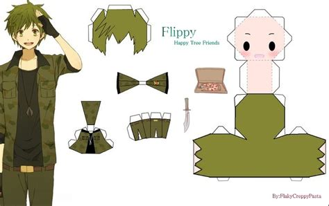 papercraft flippy themilitary by flakyhappytreefriend on
