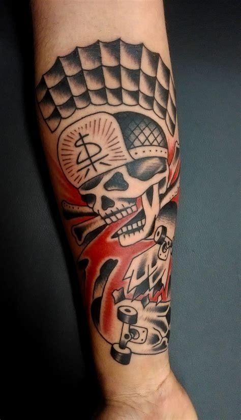 skeleton skateboard tattoos pictures to pin on pinterest