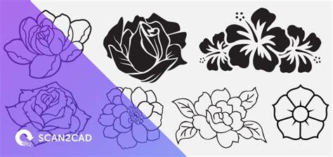 flower pattern dxf free dxf files free downloads scan2cad