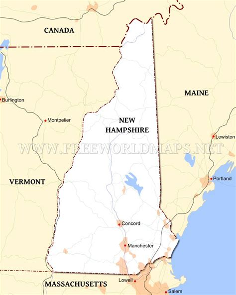 map usa showing new hshire new hshire maps