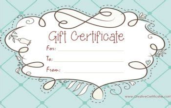 Editable Gift Card Template by Free Printable And Editable Gift Certificate Templates