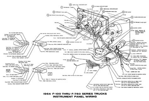 ford f 100 through f 750 trucks 1964 instrument panel wiring diagram all about wiring diagrams