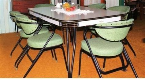 Arm Chairs by Retro Vintage Laminex 6 Seat Dining Suite Table 6 Vinyl