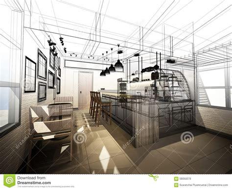 design frame outlet sketch design of coffee shop stock image image 58050079