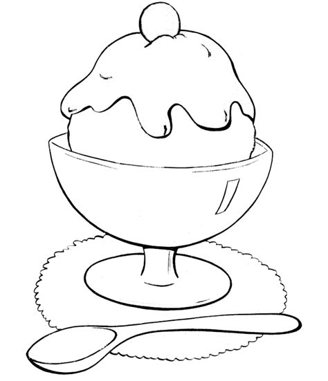 coloring page of an ice cream sundae ice cream coloring pages coloringsuite com
