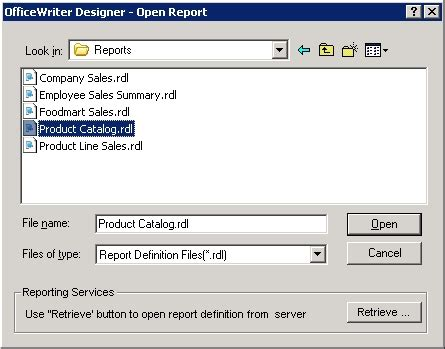 format file xlw officewriter designer for excel open report ssrs