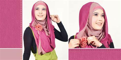 Tutorial Hijab Syar I Tetap Modis | pashmina two tone modis namun tetap syar i 2012 kumpulan