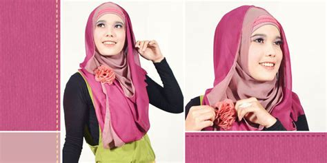 tutorial jilbab syar i nan modis pashmina two tone modis namun tetap syar i 2012 kumpulan