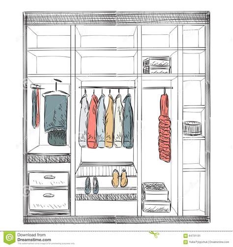 Cad Floor Plans Free Download hand drawn wardrobe sketch stock vector image 64731131