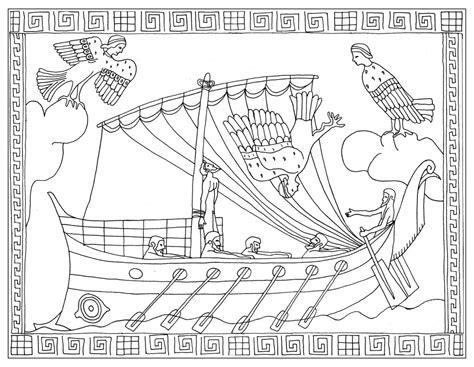 dessin bateau ulysse notre nouveau coloriage sur l odyss 233 e d hom 232 re