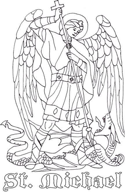 coloring book pages st day st michael the archangel catholic coloring page catholic