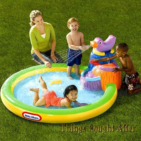 backyard blow up pools little tikes harbor falls infatable kids swimming blow up