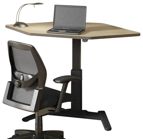 Mayline Varitask Lt Series 42 Quot Corner Wood Laptop Desk Birch Corner Desk