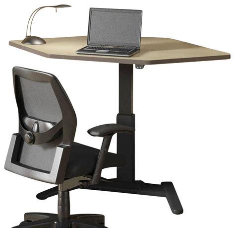Birch Computer Desk Mayline Varitask Lt Series 42 Quot Corner Wood Laptop Desk Birch Transitional Desks And Hutches
