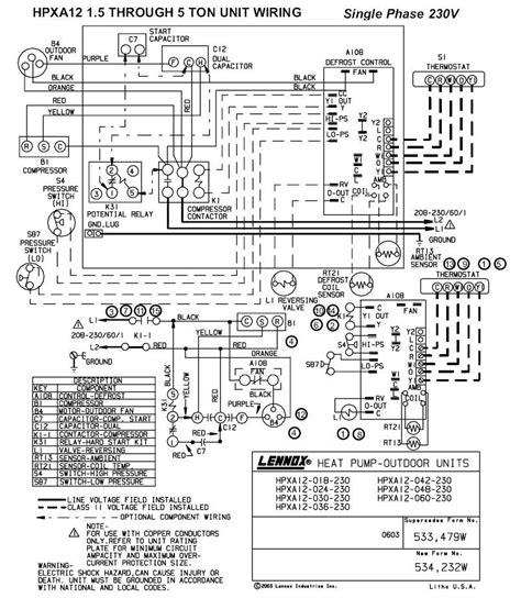 lennox heat a air conditioners wiring diagram wiring