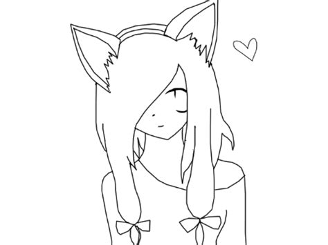 anime cat girl coloring pages freecoloring4u com