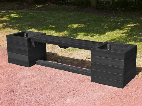 planter bench seat ribble planter bench recycled plastic trade