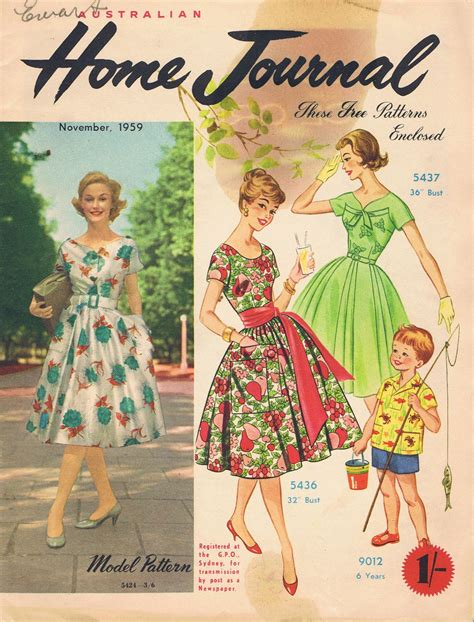 clothes pattern magazine vintage sewing patterns 1959 fashion magazine v