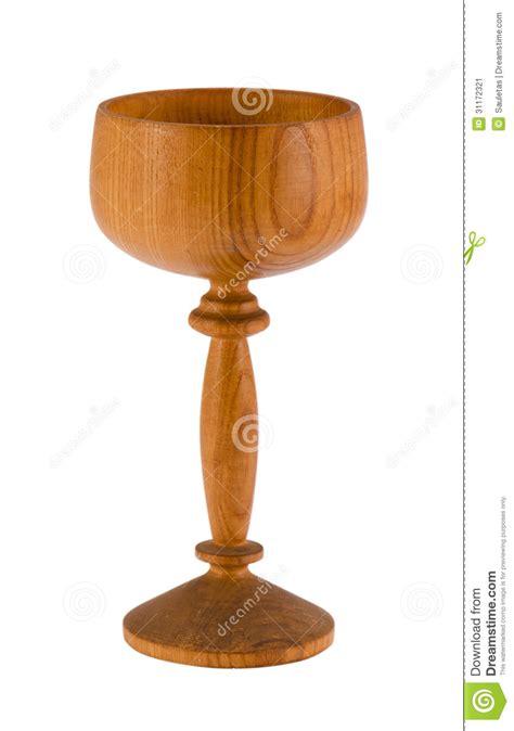 bicchieri di legno retro chiavetta di legno bicchiere di vino isolata su