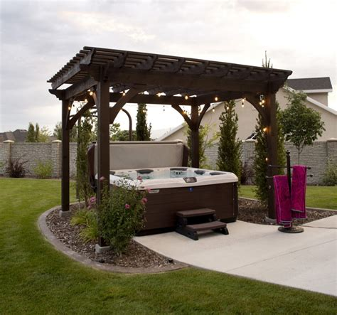 pergola tub ascertain the best backyard bathtub western timber frame