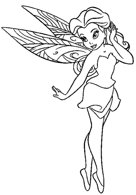 coloring page of fairy fairy coloring pages
