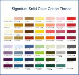 signature color threads