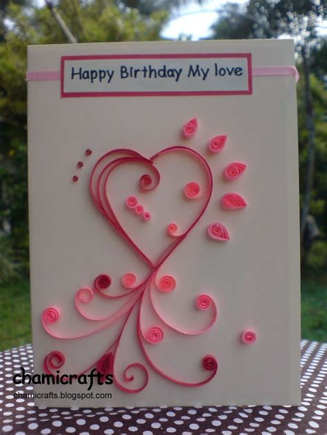 Handmade Birthday Card For Lover - handmade greeting cards for boyfriend
